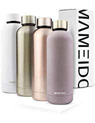 MAMEIDO Trinkflasche 500ml | Edelstahl-Thermosflas…