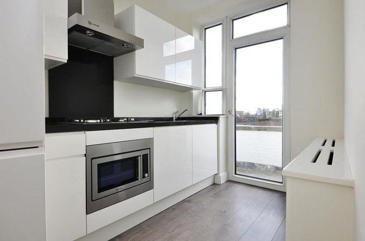 Witte Keuken Met Accentmuur : ... over Kitchens op Pinterest - Keuken ...