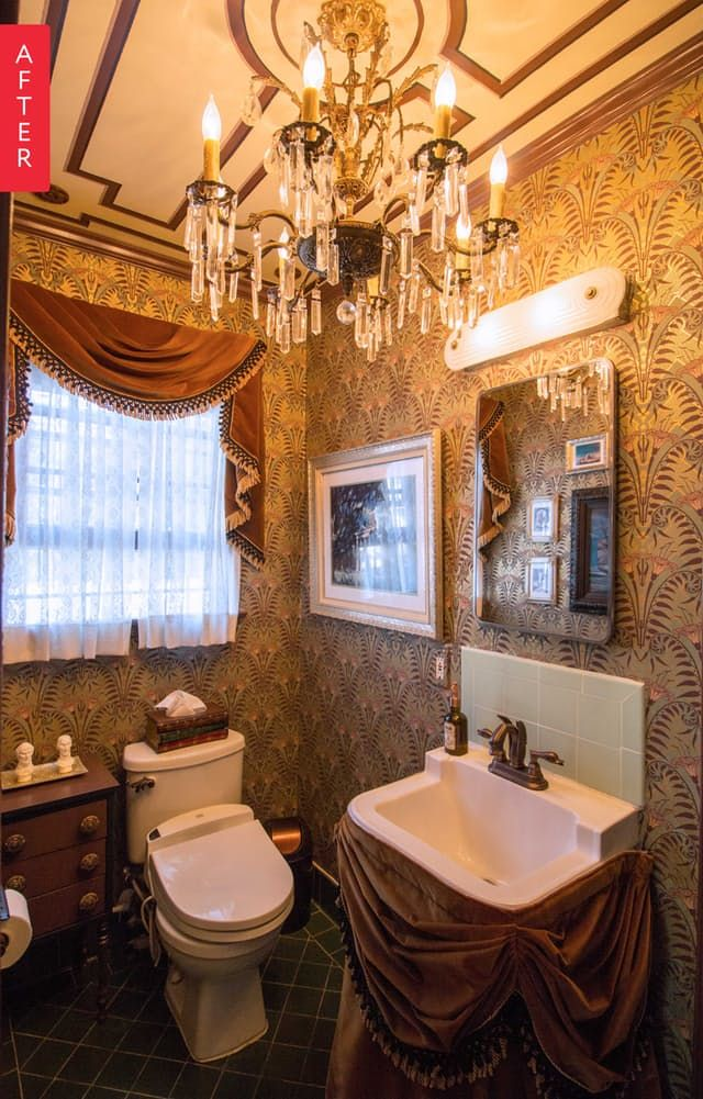 Before & After: The Haunted Mansion Bathroom of Your Disney Dreams