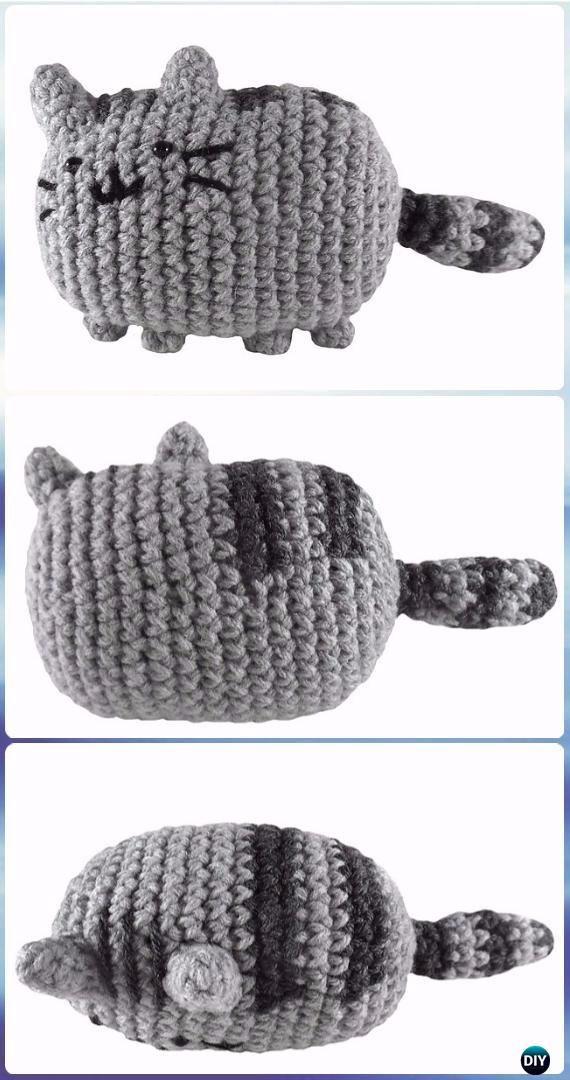 51 best Pusheen cat crochet images on Pinterest | Amigurumi ...