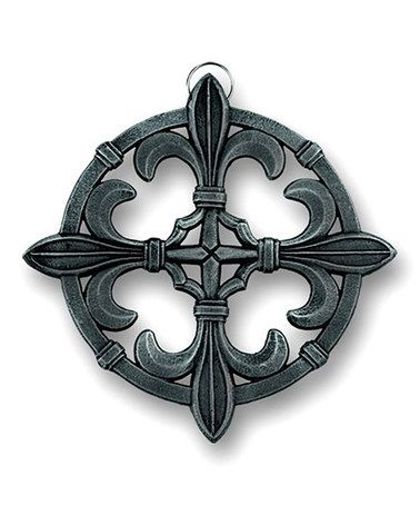 Take a look at this Antique Pewter Fleur-de-Lis Cast Iron Trivet by Old Dutch International on #zulily today!