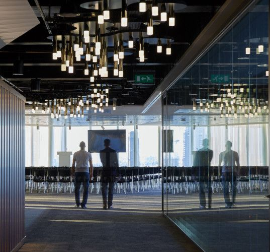 office space lighting. nulty news corp uk london vertical light feature sculpture office space design lighting g