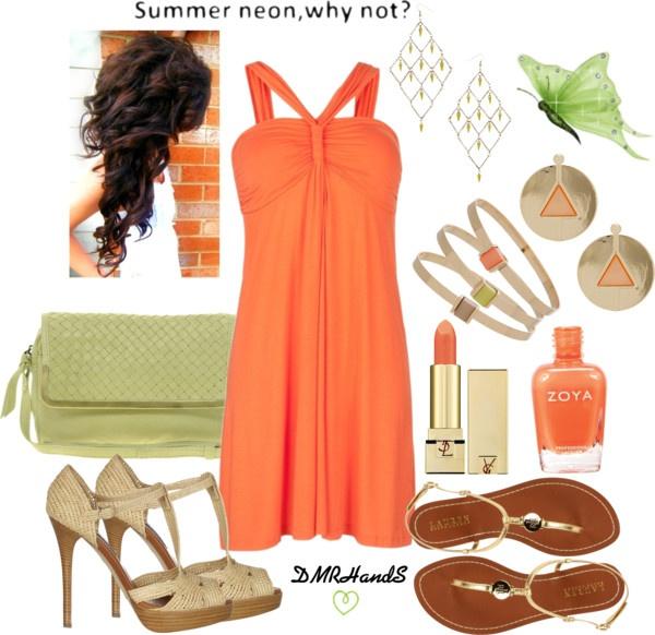 summer neon orange