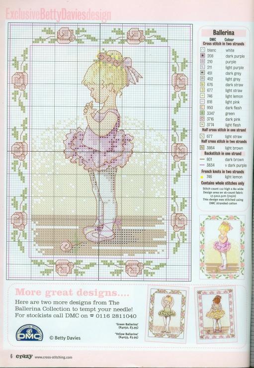 Gallery.ru / Фото #6 - 554 - Yra3raza Cross Stitch Crazy 64 / Pretty Ballerina 3/3