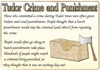 Printable posters and reference cards to teach children about Crime and Punishment in Tudor times.