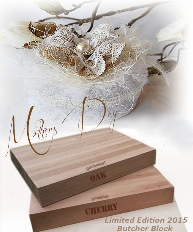 Give a limited edition 2015 Butcher Block this Mothers Day. Mothers deserves best -Let her know how much you care. End grain Oak or Cherry wood, it's personal. Side grooved for easy handling. Your choice of engraving , we deliver Saturday 9 May 2014 Contact Us: http://bit.ly/1GXFkQY Like us on Facebook: http://on.fb.me/1HZ4jDC Follow us on Twitter: http://bit.ly/1KEd4B6 Web: http://bit.ly/1AwiB71