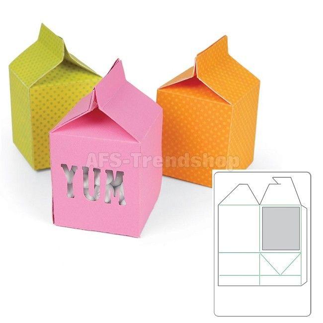 Sizzix Movers & Shapers L Stanzschablone Box Milk Carton, Milchka