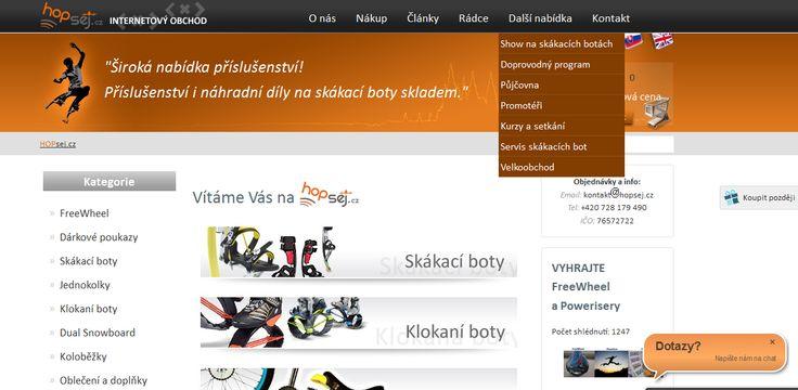 hopsej.cz - založení eshopu a unikátní grafický design