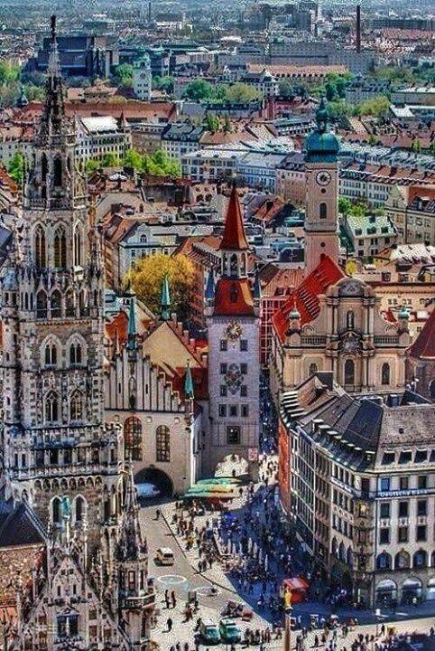 Vista de la Marienestrase,Múnich Alemania