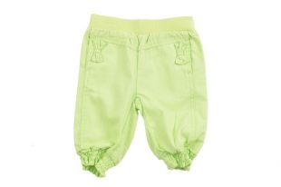 Pantalón para bebe niña en color verde fosforescente. Cintura y ruedo elastizados.