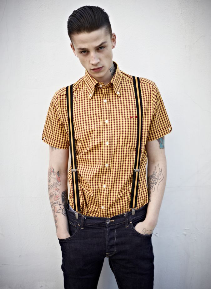 Brutus x Dr. Martens TrimFit Shirt  limited edition suedehead styley.