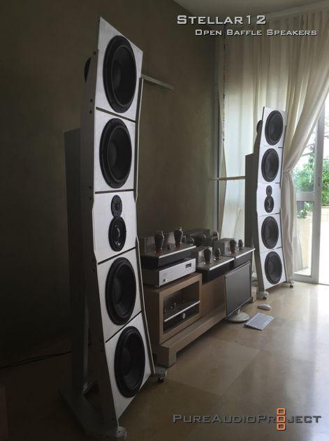 Stellar12 PureAudioProject Open Baffle Speakers PAP LR