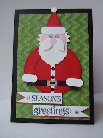 17 best images about stampin 39 up santa punch art on for Santa cards pinterest