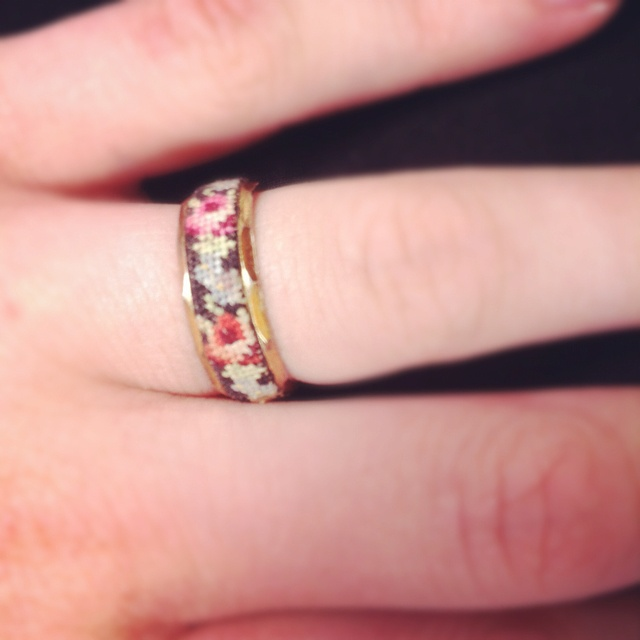 Cross stitched ring (: