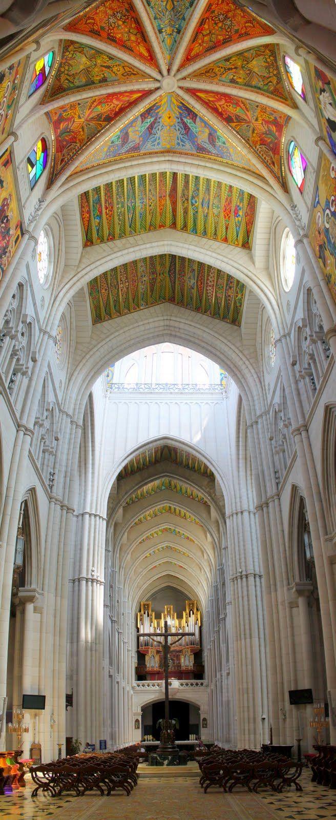 //Santa María la Real de La Almudena is a Catholic cathedral in Madrid, Spain #cathedral #architecture