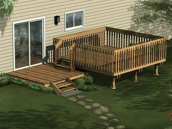 17 best images about deck ideas on pinterest roof panels for 2 level deck designs