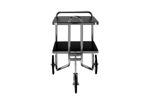 A stylish trolley designed by Marcel Breuer in 1928 and produced by Matrix International. The structure is made of steel tubes; wheels and joints of chromed brass. The lacquered or laminated tops tone in with the structure. An original of the trolley carriage Breuer is exhibited in New York at the Neue Galerie, Museum of German and Austrian Art.   #trolley #marcelbreuer #neuegalerie #newyorkdesign #design4life