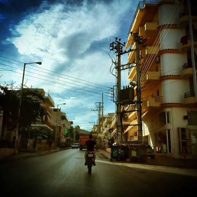 #street #motorbike #building #urban #iPhone | by Tryfon Tobias Pliatsikouris