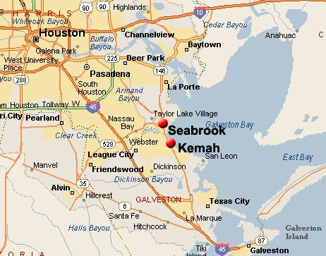Map Of Seabrook Texas