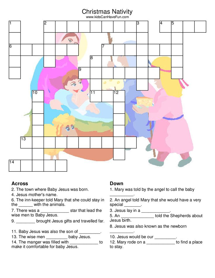 Christmas Nativity Crossword