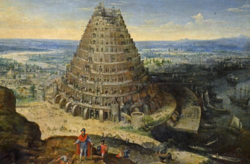 "camilotangerine:  ""Lucas van Valckenborch, The Tower of Babel, 1594, oil on wood, 41 x 56 cm., Musee du Louvre, Paris.  """