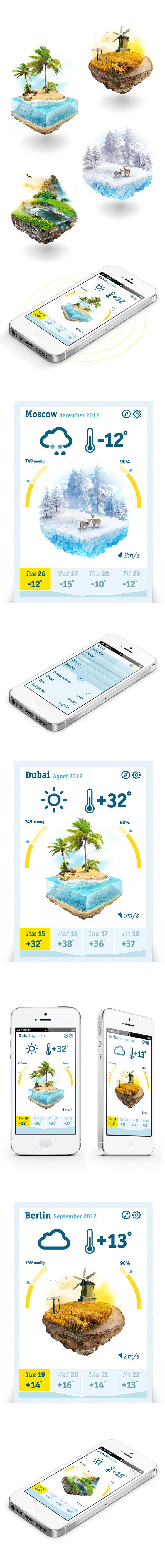 Cube weather on Behance