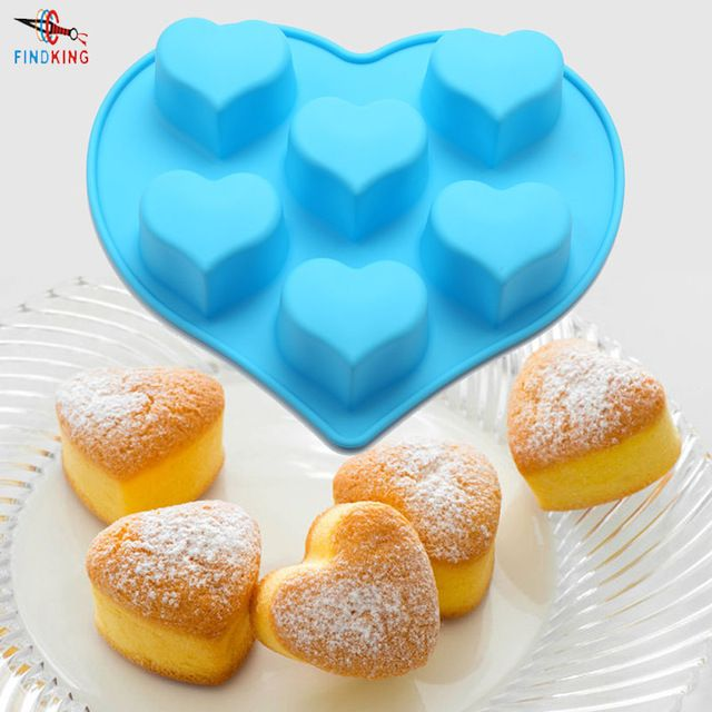FINDKING DlY 9 pulgadas 25*20.5*4 cm 125g 3D en Forma de corazón de Silicona Torta Del Molde Para Hornear Herramientas Fabricante de Moldes para hornear