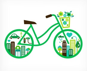 #Bicycle Eco vector
