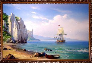 На море ранним утром - Морской пейзаж <- Картины маслом <- Картины - Каталог | Универсальный интернет-магазин подарков и сувениров
