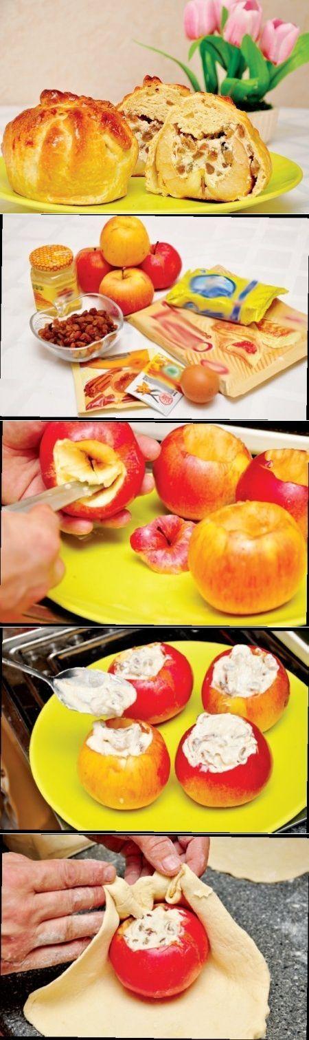 Как приготовить яблоки в слоеной рубашке - рецепт, ингридиенты и фотографии