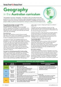 Geography in the Australian Curiculum