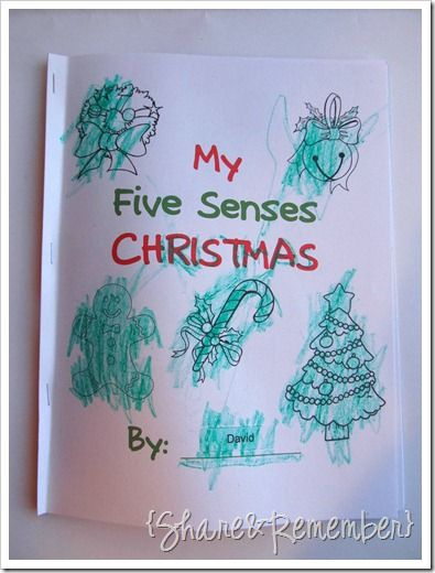 five senses christmas printable booklet