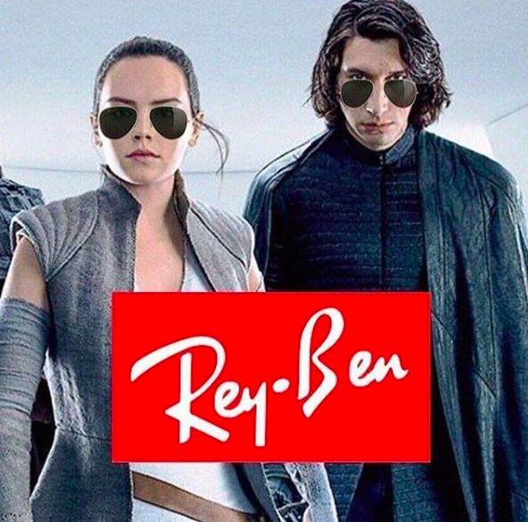 ray ban, rey ben star wars meme pun funny
