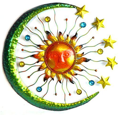 Large Metal Sun Face Star Moon Glass Beads Wall Art Plaque Home Decor WorldBazzar http://www.amazon.com/dp/B00IT2Q9SI/ref=cm_sw_r_pi_dp_RO-dxb1PGX8YV