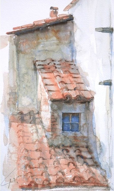 Stucco and watercolor #watercolor jd