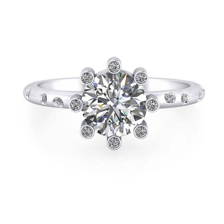 Comprar anillo de compromiso con 16 diamantes online
