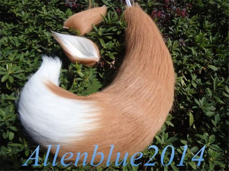 Fox Ears Tail Anime Cosplay Props Spice And Wolf Holo Long Plush Japan Custom