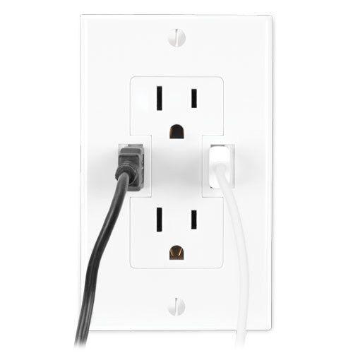 Power2U (Tomacorrientes doble con conectores USB)