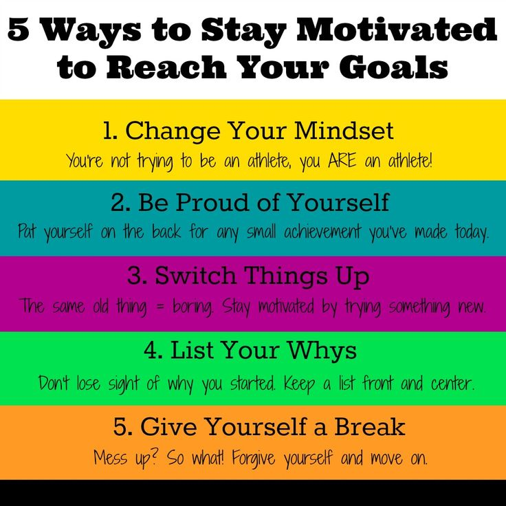 5 Tips to stay motivated to reach your goals
