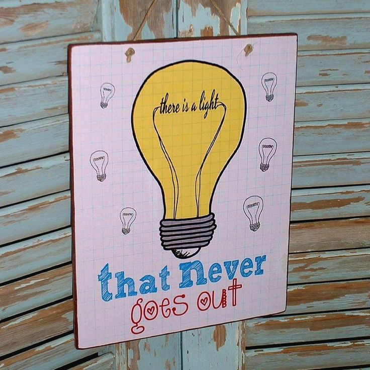 There is a light that never goes out! Vintage sign made of MDF wood. You can hang it on your wall, door, cupboard or anywhere else. Dimesnions 19,5x24,5 cm and 0,4 cm thick.