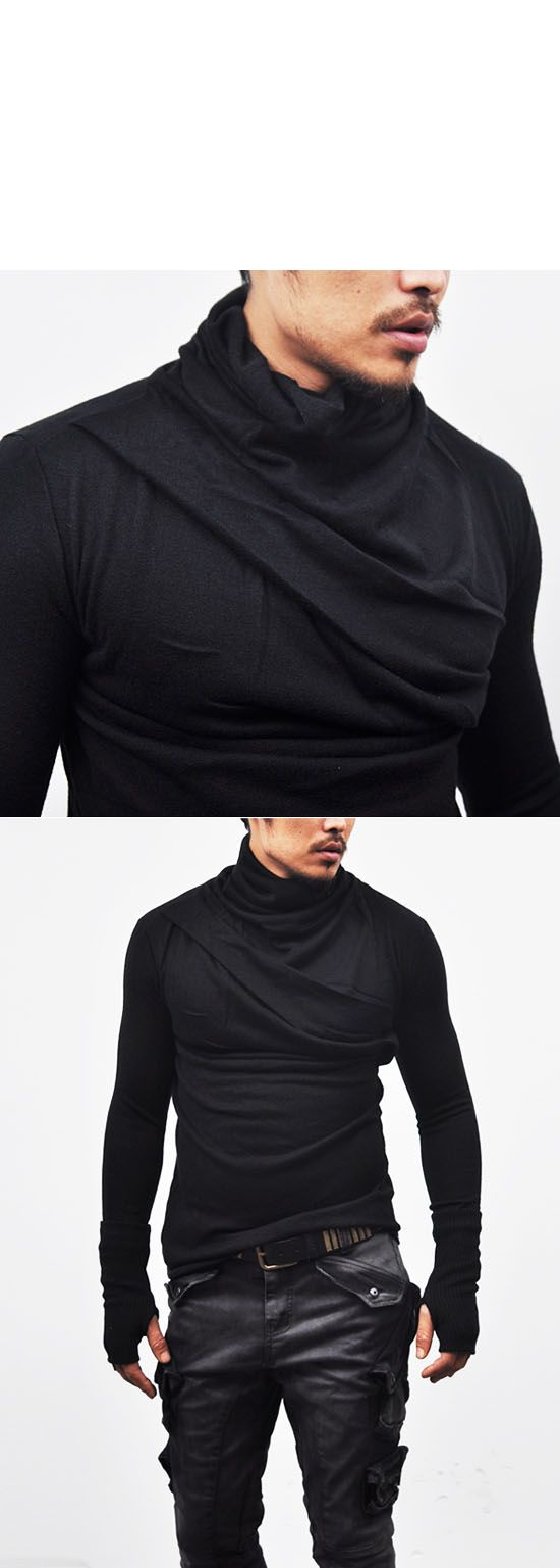 Tops :: Avant-garde Bandage Armwarmer Turtle-Knit 32 - Mens Fashion Clothing For An Attractive Guy Look