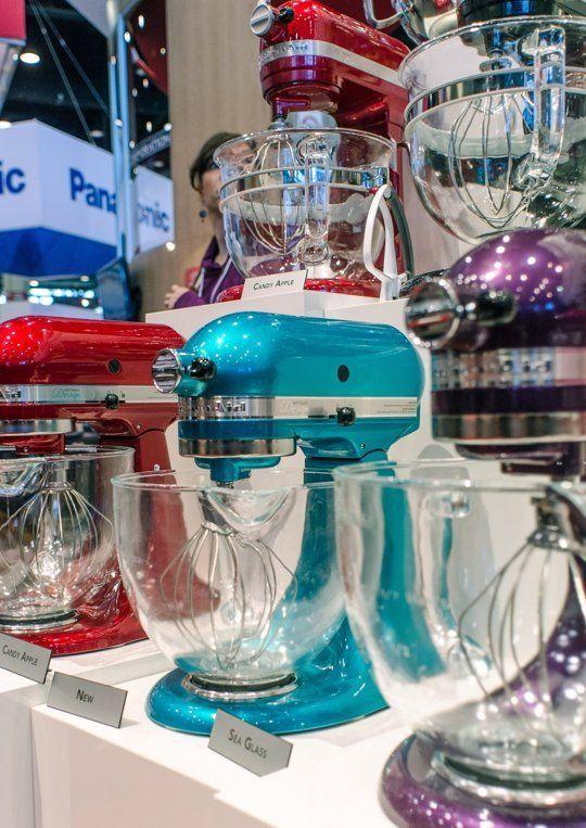 KitchenAid's New Mixer Colors for 2014: Sea Glass, Bordeaux & Lavender — International Home + Housewares Show 2014
