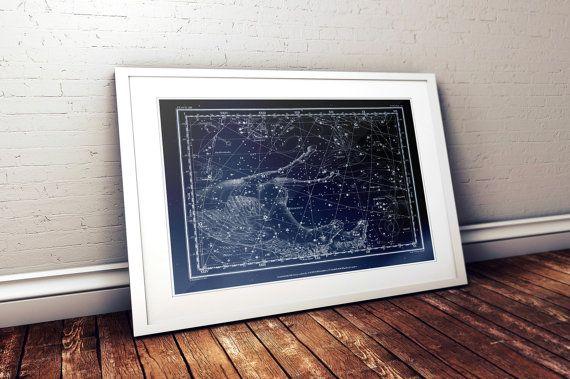 Pegasus Constellation Metallic Print by ThreePurpleOrchids on Etsy