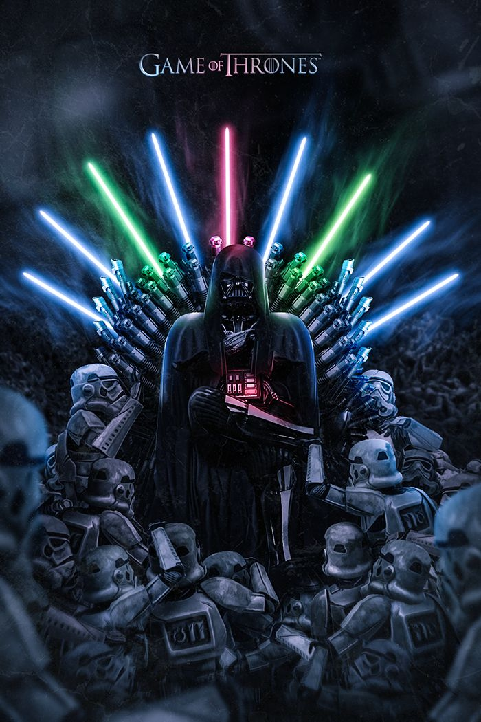 Darth Vader on the Iron Throne - Star Wars + Game Of Thrones - BossLogic
