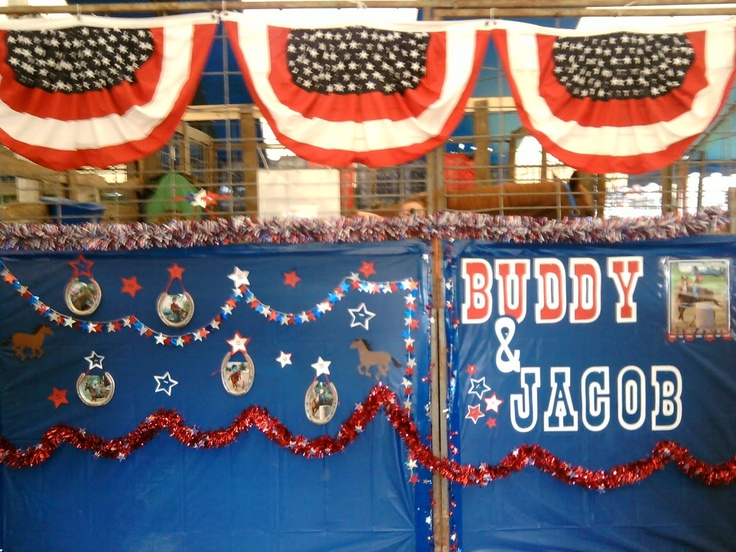 stall decorating for the fair found time - Horse Stall Design Ideas