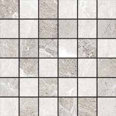 "Flint Ice Mosaic 2""x2"" on 12""x12"" Sheet"