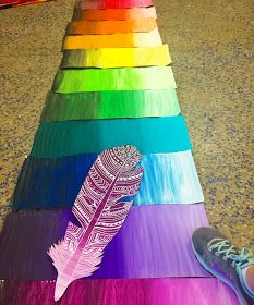 The past few months my students have been making feathers for a group mural. This idea was inspired by my friend and celebrity in the art c...