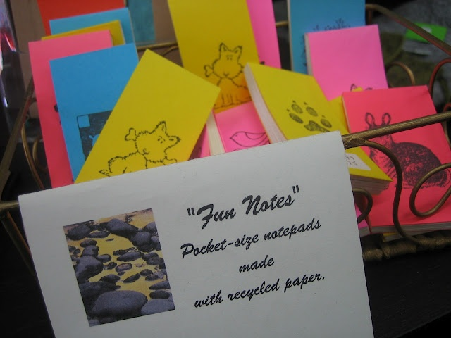 Textures:a combined effort of area artisansa.k.a. Textures Craftworks  -Fun Notes notepads by Sharon Beasley - $1.75