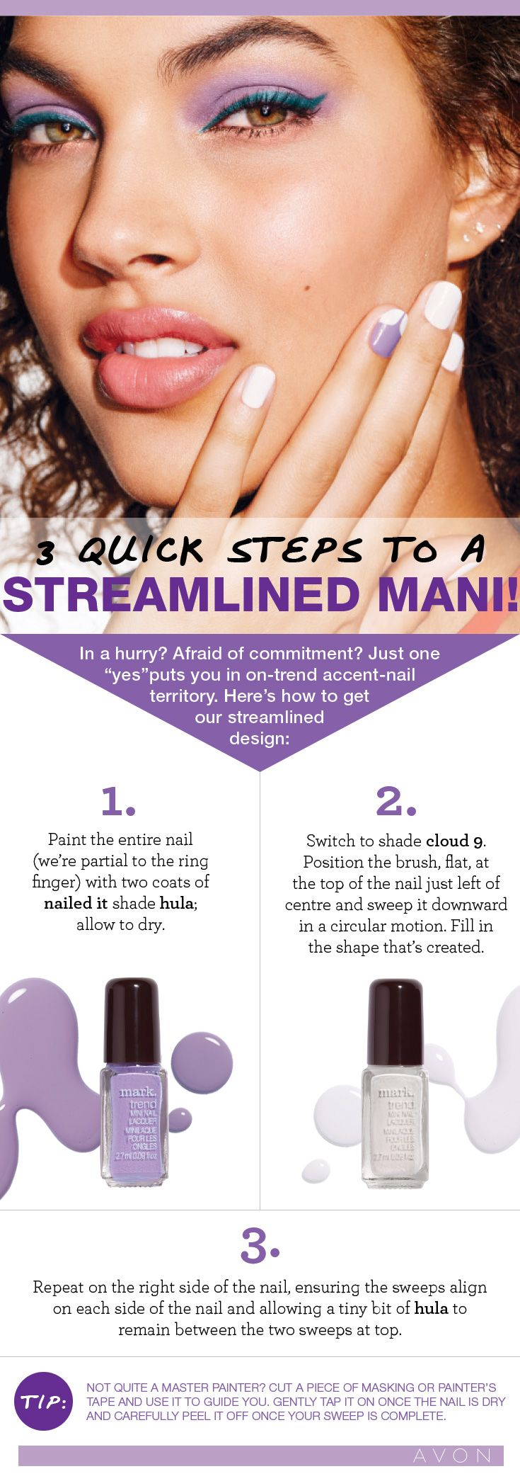 Check out this #MarkCanada polish pairing for a quick DIY accent nail this #ManiMonday