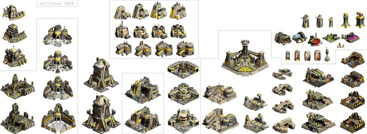 Zann Consortium buildings for Star Wars: Galactic Battlegrounds mod  by Hao Dinh